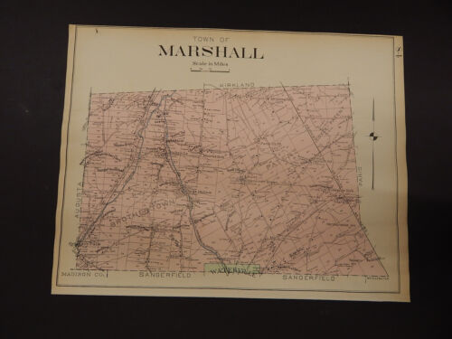 New York, Oneida County Map, 1907 Town of Marshall R3#27