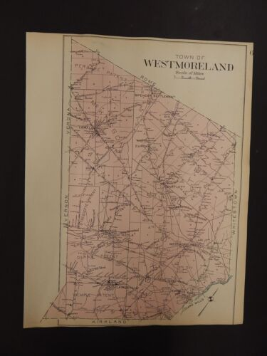 New York, Oneida County Map, 1907 Town of Westmoreland R3#33