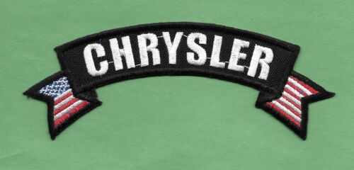 """New  Chrysler  'Badge'  1 1/2 X 5""""' Inch  Iron on Patch Free Shipping"""