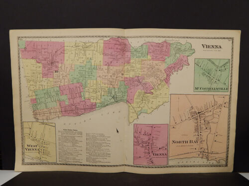 New York, Oneida County Map, 1874 Town of Vienna, Double Page Z2#44