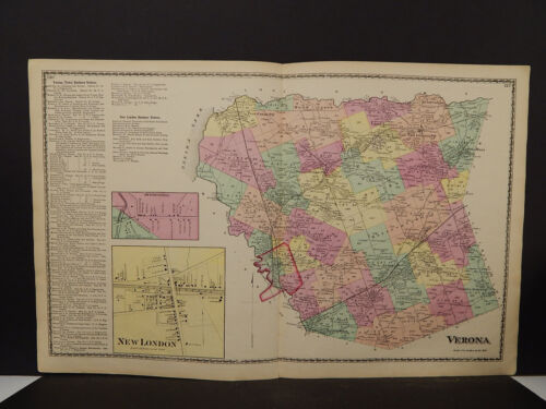 New York, Oneida County Map, 1874 Town of Verona, Double Page Z2#45