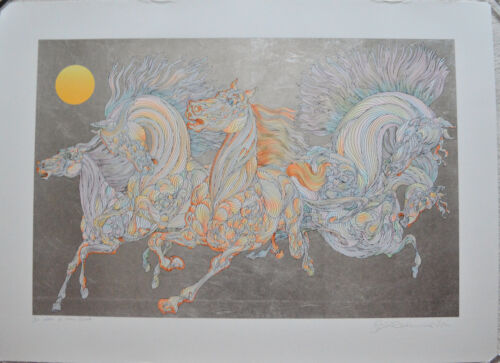 GUILLAUME AZOULAY SERIGRAPH LEVER DE SOLEIL SIGNED #3/50 W/COA