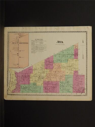 New York, Oneida County Map, 1874 Town of Ava Z2#86