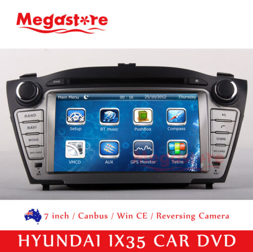 "7"" Car DVD GPS Stereo Navigation Head Unit For HYUNDAI IX35 2010-2015 android 9"