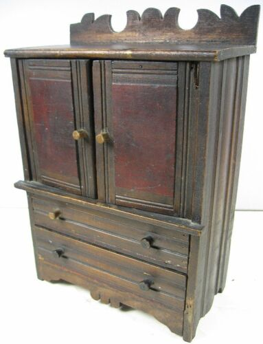 Antique 1860's Doll or Sample Empire Style Chest Nice Style