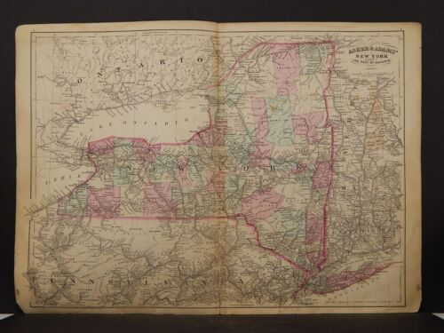New York Map, 1871 New York State Z2#89