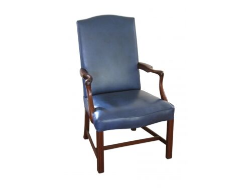 CW Kittinger Mahogany and Leather Arm Chair (BRG 6817)