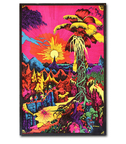 Lost Horizon - Blacklight Poster - 23x34 Flocked Trippy 1921