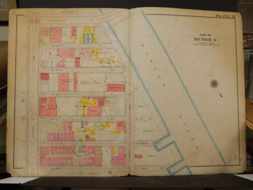 New York, Manhattan Map, 1914 Lenox to Harlem River, 139th to 145th R3#62