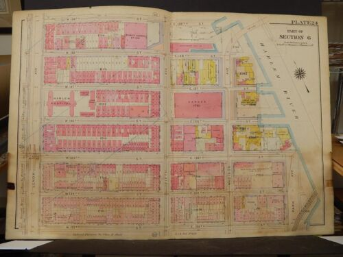 New York, Manhattan Map, 1914 Lenox to Harlem River, Harlem Hospital R3#68