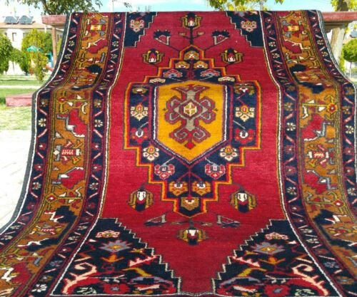 Beautiful Antique Cr1900-1939s Multi-Colored Nomad Wool Pile Collectible Rug
