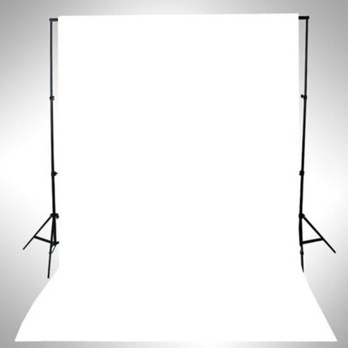 WHITE Thin Vinyl Photography Backdrop Background Studio Photo Prop Durable 3x5ft
