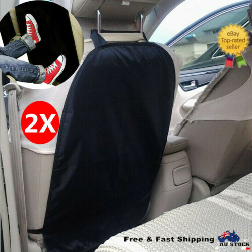 2X Car Care Seat Back Protector Cover For Children Kick Mat Clean Cushion Padded