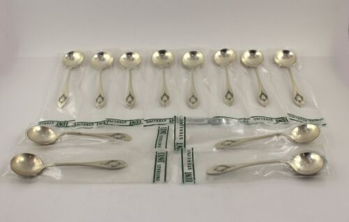 "Lunt Mount Vernon Sterling Silver Bouillon Spoon - 5 1/8"" - Set of 12 - New"
