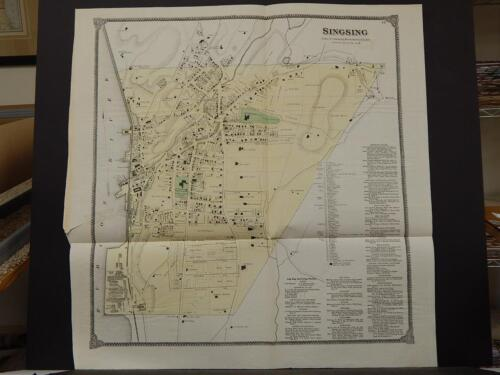 New York, Westchester County Map, 1867 Town of Ossining, Singsing !O5#43