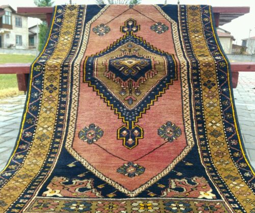 """Antique 1900-1930's Tribal Dowry Rug 3'5""""×6'5"""""""