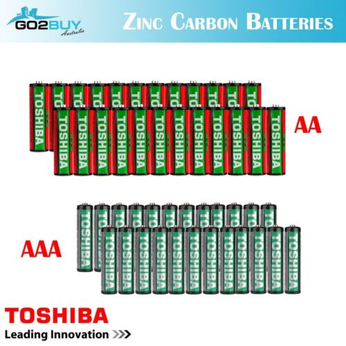 GENUINE TOSHIBA Zinc Carbon AA|AAA Battery Super Long Lift Batteries <br/> New Genuine Philips Option Added