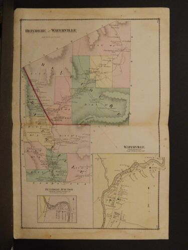 Vermont, Orleans County Map, 1878, Townships of Belvidere & Waterville, K1#20