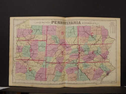State of Pennsylvania Map, 1874, K1#51