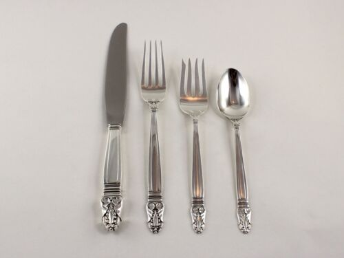 International Norse Sterling Silver 4 Piece Place Setting - No Monogram