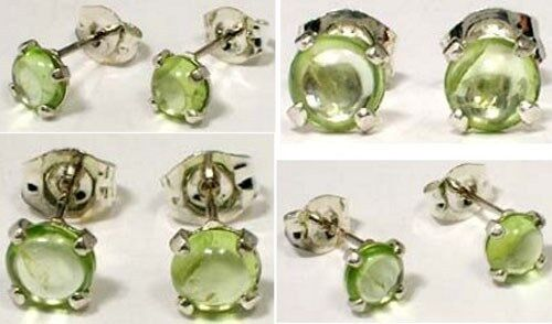 """18thC Antique 1ct Peridot Ancient """"Gem of the Sun"""" Protect Against Evil Eye .925"""
