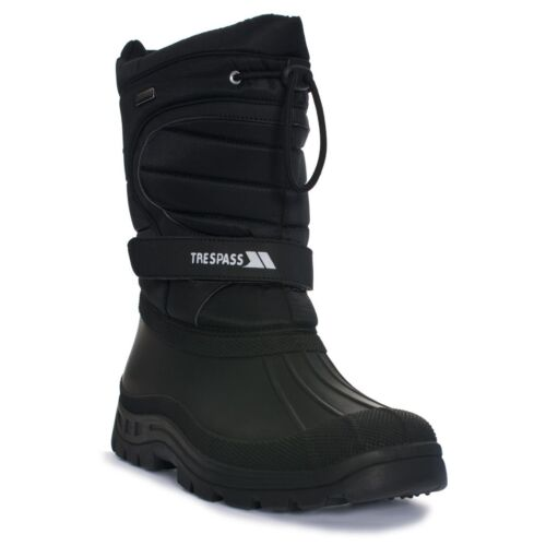 Trespass Dodo Mens Ladies or Womens Water Resistant Black Winter Snow Boots