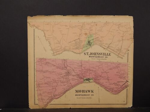 New York, Montgomery County Map, 1868, St. Johnsville, Mohawk Townships !J3#07