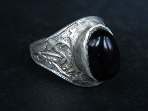 Antique Silver Ring With Stone 1900 AD  #STC340