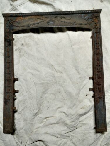 Reclaimed Antique Victorian Cast Iron Fireplace Surround. Shell Motif.