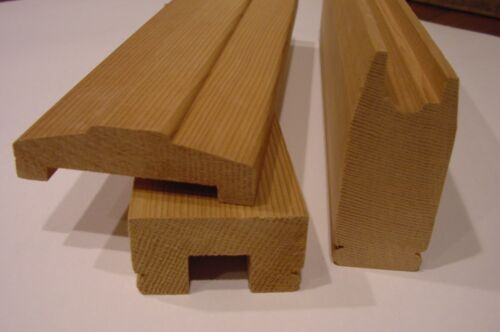 TYPE 1 RED CEDAR RAILS FOR FLAT SAWN PORCH BALUSTERS - 3 PART (SAMPLE)