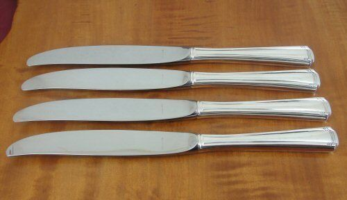 "WESTMORLAND John & Priscilla Set of 4 Dinner Knives 9"" Sterling Silver No Mono"