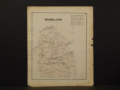 Pennsylvania, Lycoming County Map, 1873  Township of  Moreland Y2#40