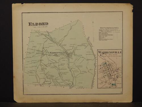 Pennsylvania, Lycoming County Map, 1873  Township of Eldrid  !Y2#51