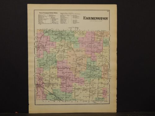 New York, Ontario County Map, 1874, Farmington, Y3#90