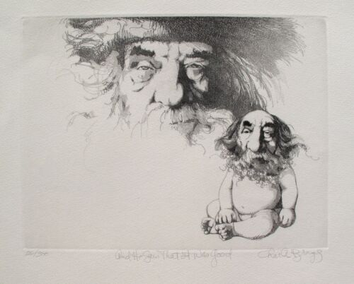 """CHARLES BRAGG """"AND HE SAW THAT IT WAS GOOD"""" Hand Signed Limited Edition Etching"""