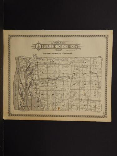 Wisconsin, crawford County Maps, Township of Utica 1930 Two Double Sided J4#04