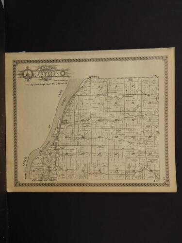 Wisconsin, crawford County Maps, Township of Eastman 1930 Two Double Sided J4#05