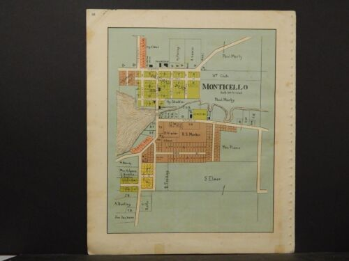 Wisconsin, Green County Map, Monticello 1902 K6#56