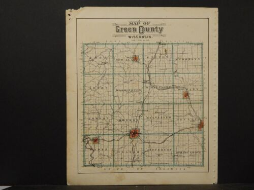 Wisconsin, Green County 1902 Double Sided K6#60