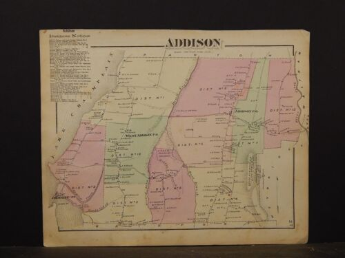 Vermont, Addison County Map, 1871, Addison Township, Y4#83