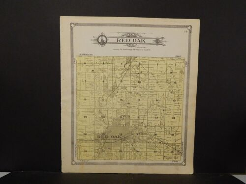 Iowa, Montgomery County Map, Red Oak Township, 1907  J5#53