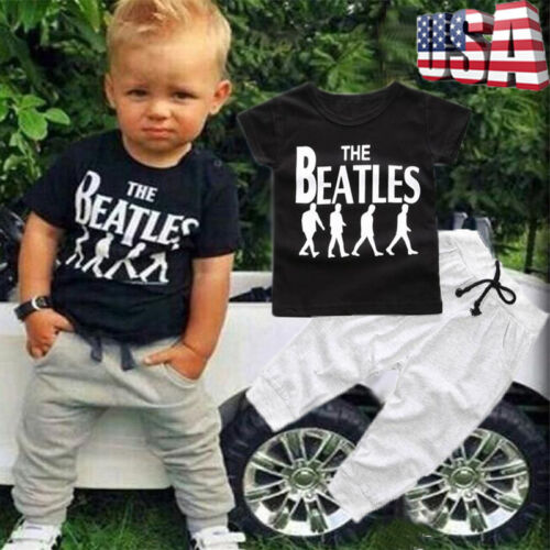 Toddler Kids Baby Boy T-shirt Tops Casual Long Pants Trousers Clothes Outfit Set