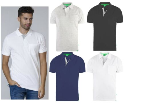 Mens Polo Shirt Grant fully combed pique with pocket  Duke D555 SIZES ,M TO 8XL