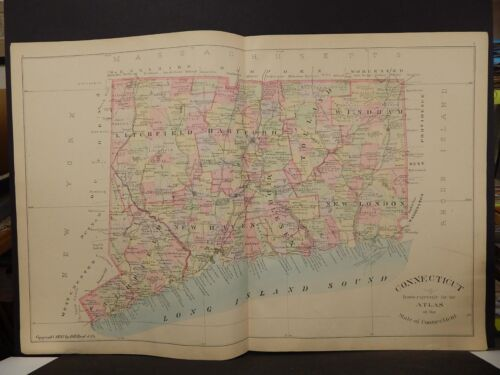 Conneticut State Map, 1893,  double page  L5#50