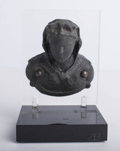 Ancient Roman Bronze Bust Of Heracles wearing Lion Skin c.1st-2nd century AD.
