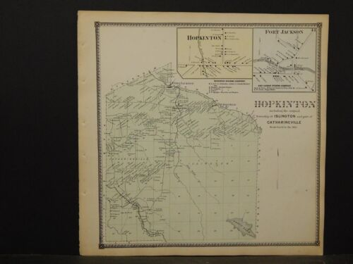 New York, St. Lawrence County Map, HopkintonTownship 1865  Y5#45