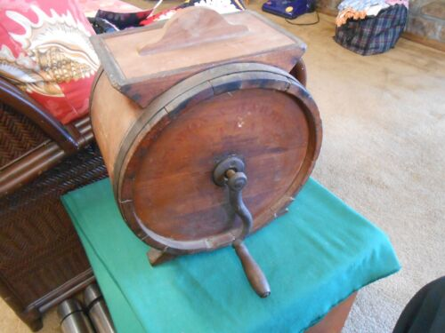 """Great Collectible Antique Wood BUTTER CHURN """"Harmon & Harris Co.-Portland"""