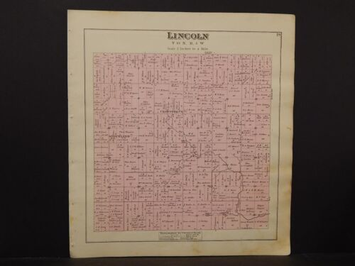 Michigan, Isabelle County Map, Lincoln Township  1879 Y5#88