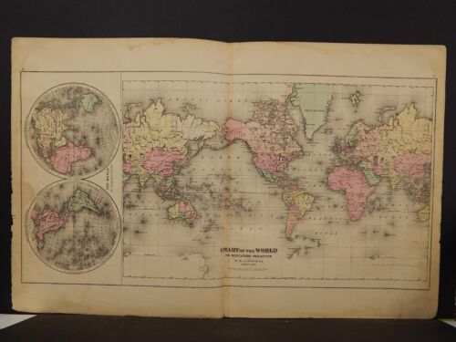 The World Map,Dbl. Pg.1876 K9#21