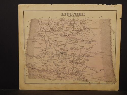 Pennsylvania, Westmoreland Co. Map, Liconier Township Dbl Sided 1876 !K9#42